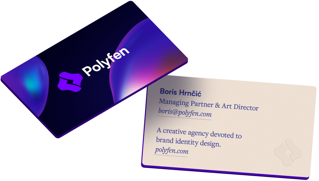 Polyfen Business Cards Design